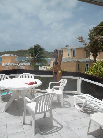 Guana Bay Beach Villas: our very own balcony.. meals were so special