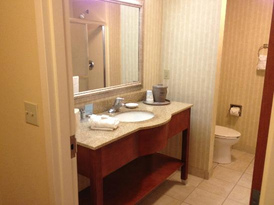 Hampton Inn Elkins: Roomy and clean bathroom