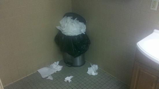 Rocco's Smokehouse Grill: Trashy bathroom
