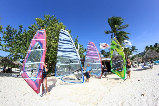 Vela Sports Aruba: Sails in front of the center