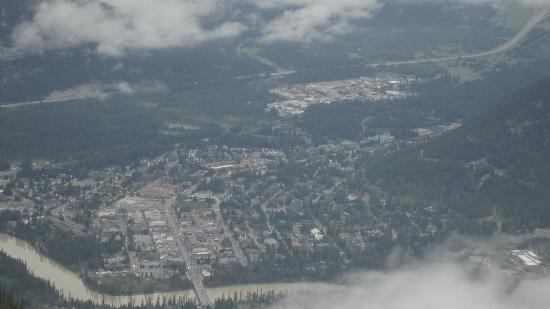 View of Banff town from summit
