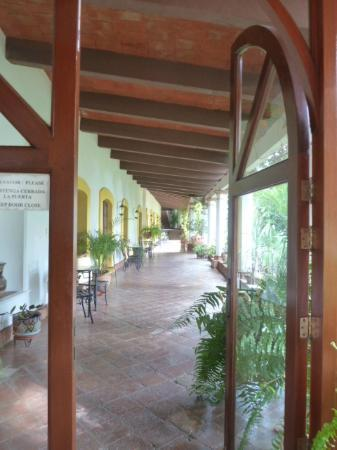 Hotel Hacienda Los Laureles Spa: Walkway to our room