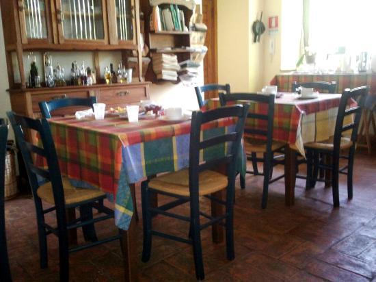 Agriturismo Sant'Ilario sul Farfa: La sala colazioni