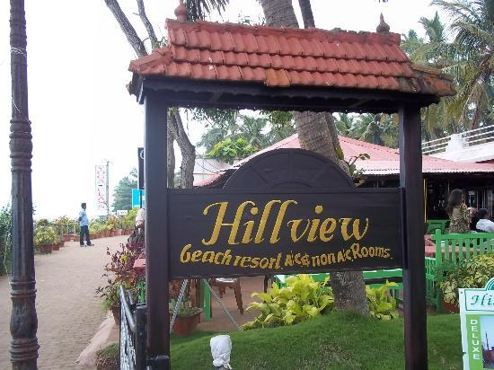 Hill View Beach Resort: NAme plate