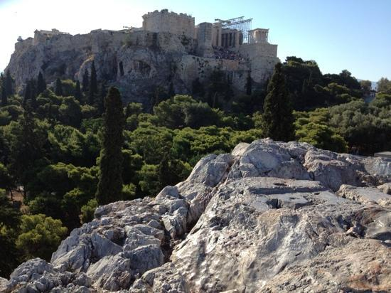 Hermes Hotel: Acropolis from ancient agora