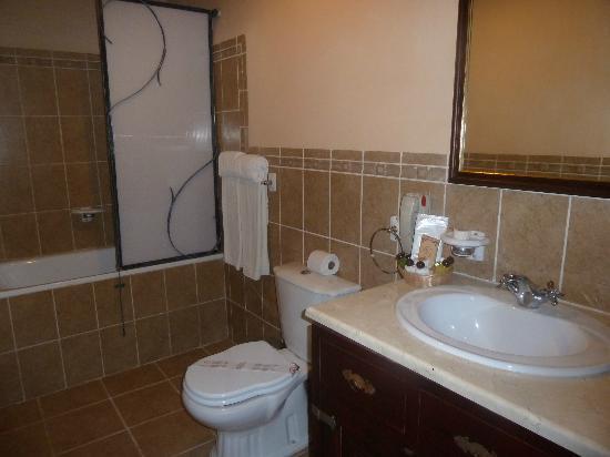 Hotel E Camino de Hierro: Buena sala de baño
