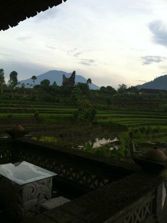 Sawah Indah Villa: View from suite, mountain