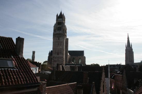 Hotel Groeninghe: La vue depuis la chambre (Chambre du dernier étage)
