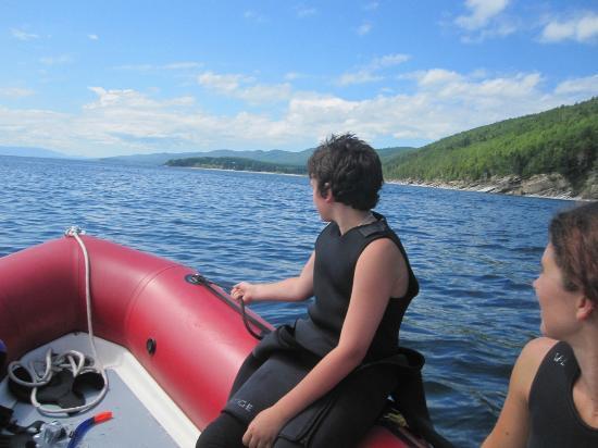 Plongee Forillon: En route vers la plongée
