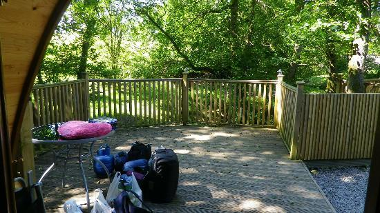 Bryn Dwr Pods and B&B: looking out from pod
