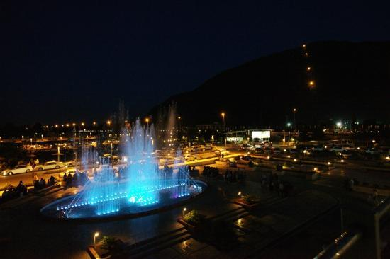 musical fountain in Ramsar cable car