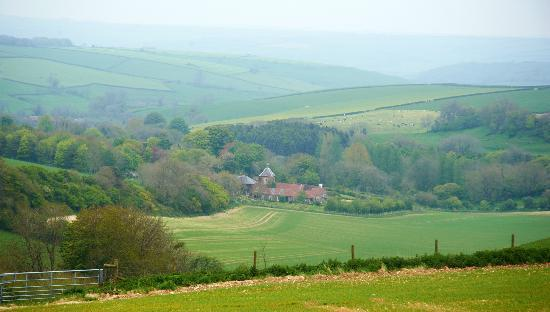 West Compton Manor Bed and Breakfast : View From the Roman Road
