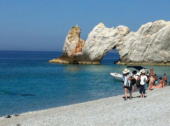 Koukounaries, Yunanistan: En perle på Skiathos