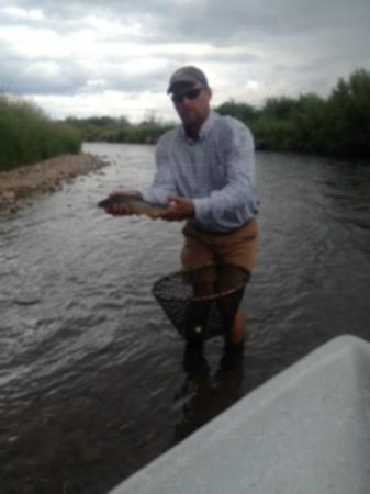 Rockin' M Ranch: Robb showing off a trout