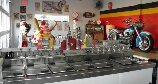 YesterYears Ice Cream Shoppe: from the serving side of the counter