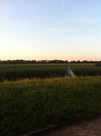 Die Mühle Jork: der Blick von der Terrasse