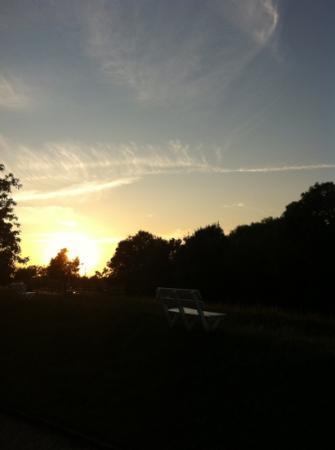Die Mühle Jork: traumhafter Blick von der Terrasse