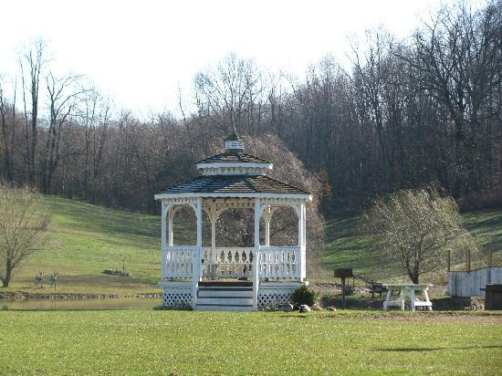 Charm, OH: The beautiful gazebo. Perfect for picture-taking, or just relaxing.