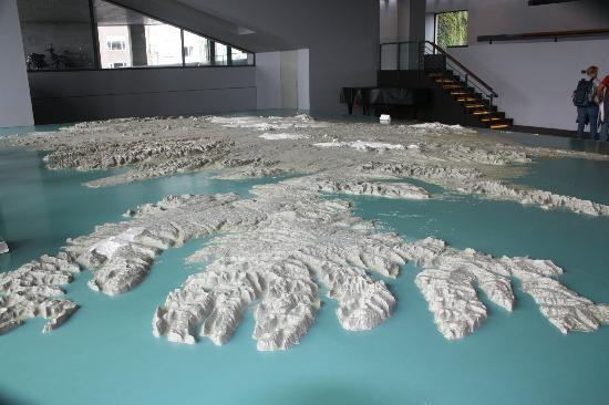 Reykjavík City Museum Árbæjarsafn: Relief map of Iceland in City Museum