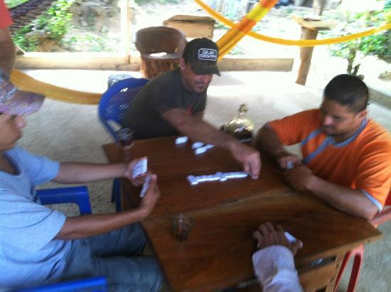 Playa Viva: At the Gutierrez home playing dominoes