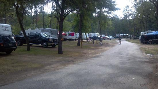 Sherwood Forest Camping & RV Park: east from site 92