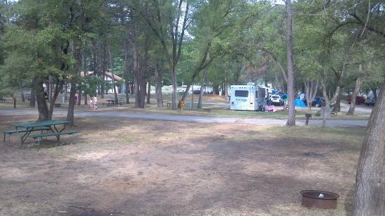 Sherwood Forest Camping & RV Park: west towards pool from 92