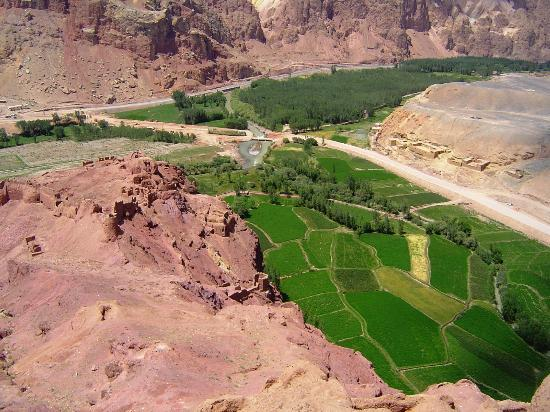 Cultural Landscape and Archaeological Remains of the Bamiyan Valley: A view from the top of the hill at Red City