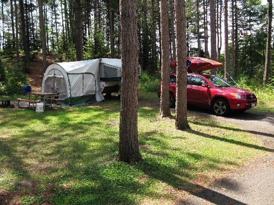 Campsite at Higley Flow State Park