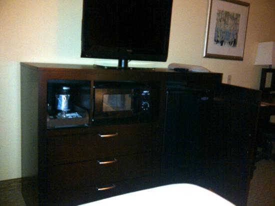 Holiday Inn Express Hotel & Suites Nashville - Opryland: TV, coffee maker, fridge