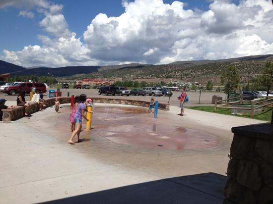 Edwards, CO: splash pad at Freedom Park