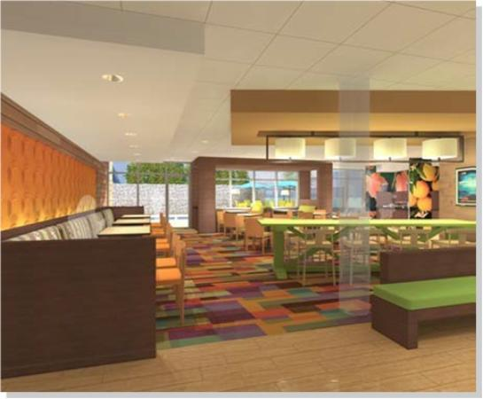 Fairfield Inn & Suites Fort Worth I-30 West Near NAS JRB: Farm Table
