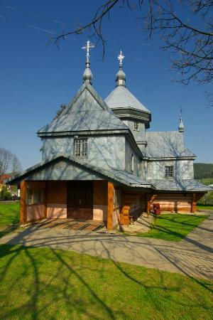 ‪St. Michael's Wooden Church‬