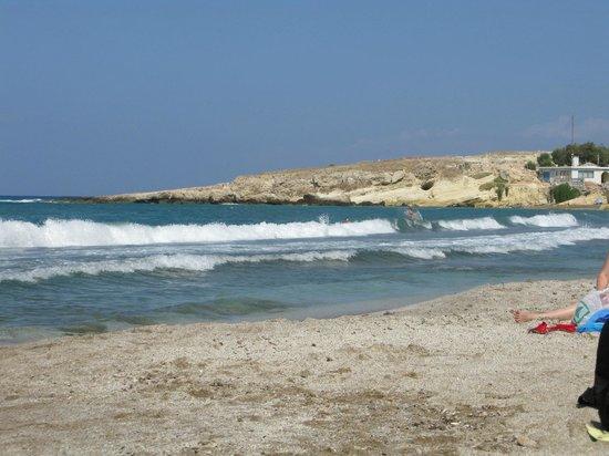 Hersonissos Hotel: Пляж.