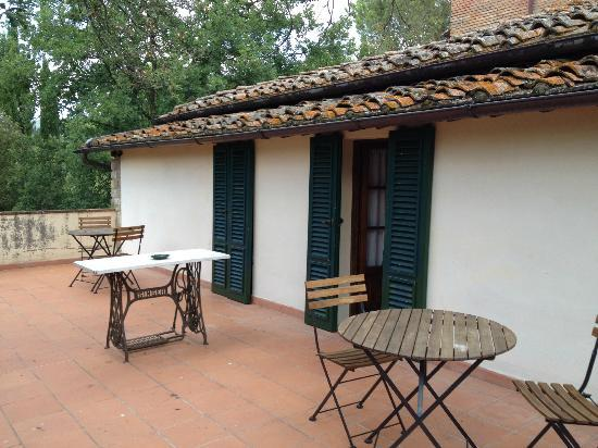 Agriturismo Casanova - La Ripintura: Our shared terrace