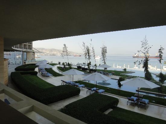 Kempinski Hotel Aqaba Red Sea: Vue du Restaurant au petit déjeuner