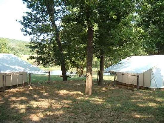 Cotter Trout Dock : Cotter Trout Dcok - Some of our wall tents.