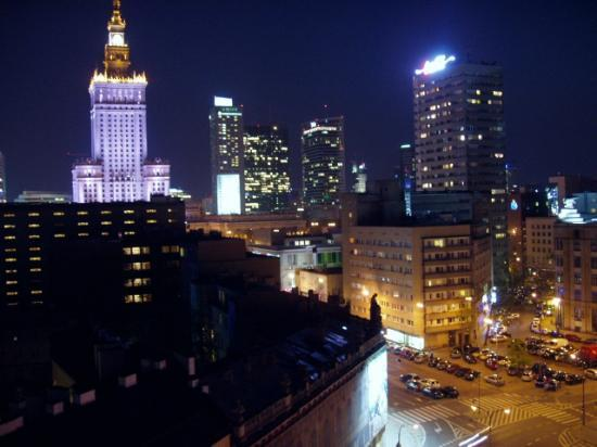 Zgoda Apartments Hotel: The view from my room by night ...