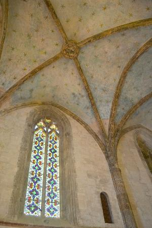 "Palais des Rois de Majorque (Palace of the Kings of Majorca): The ceilings of the ""Queens"" church"