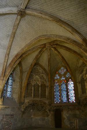 Palais des rois de Majorque : The ceilings of church 1