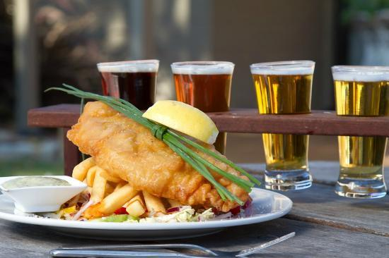 Old Brickworks Brasserie at Potters Hunter Valley : Fish and Chip... yes please!