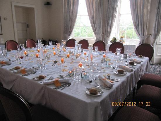 Marshall Meadows Country House Hotel: Music room (wedding breakfast for 15)