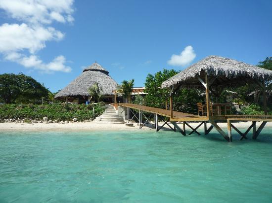 The Havannah, Vanuatu: Jetty & Restaurant