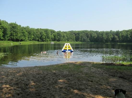 Bluegill Lake Campground: Fun inflatable