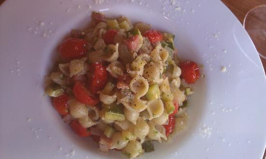 Baroncini: Shells, Pancetta, Zucchini and Tomatoes