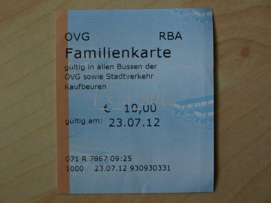 Seegasthof Weissensee: all day bus ticket for family
