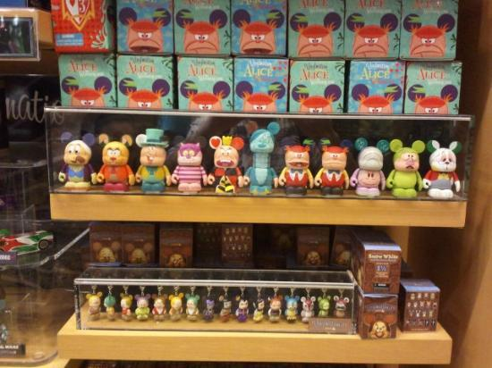 World of Disney: The display show you what series are available