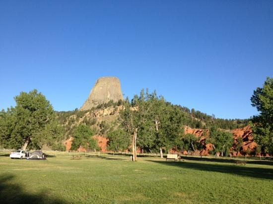 Devils Tower KOA: view from our RV