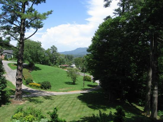 The Yellow House on Plott Creek Road: View from E'Staing balcony