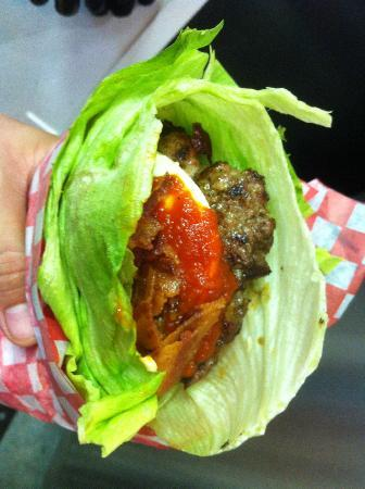 Burger Revolution: We Offer Lettuce Wraps for our Gluten Free Customers!