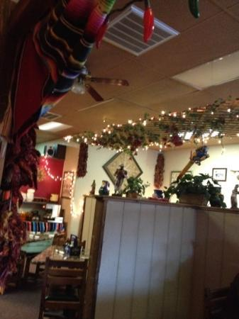 Zapata's Mexican Restaurant : inside from our booth